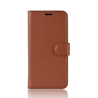 For Google Pixel 4 Case Brown Lychee Texture Protective Leather Cover Kickstand