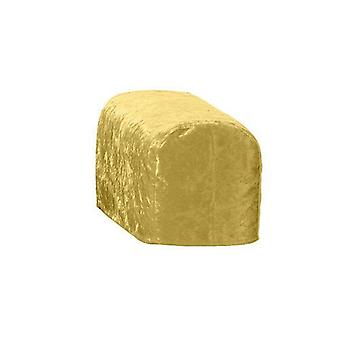 Kulta murskattua samettia ARM korkki tuoli kansi suojus Slipcover sohva Antimacassar
