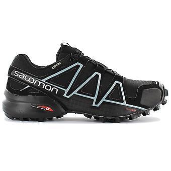 Salomon Speedcross 4 GTX W GORE-TEX 383187 Damen Trail Running Schuhe Schwarz Sneaker Sportschuhe