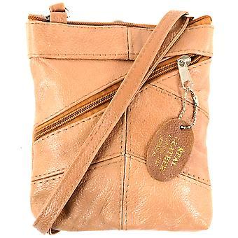 Ladies Leather Cross Body Bag / Purse ( Black )