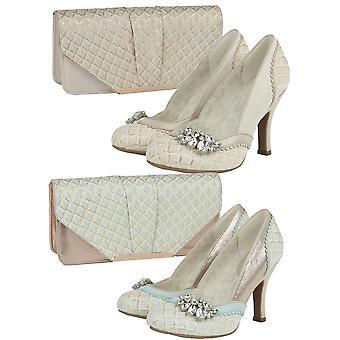 Ruby Shoo Women's Fabia Jewelled Brocade Court Shoe & Matching Tblisi Bag