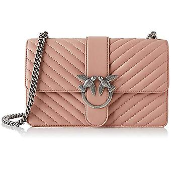 Pinko Love Mix Woman Pink Shoulder Bag (Light Pink) 7.5x16.5x27 cm (W x H x L)