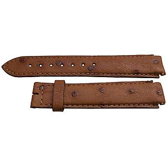 Authentic longines watch strap 19mm cognac ostrich
