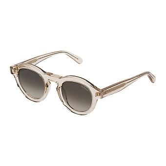 Mulberry Gian SML004 097N Shiny Transparent Apricot/Green Gradient Brown Sunglasses