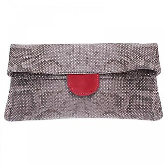 Peter Kaiser Grey Vista Fold Over Clutch