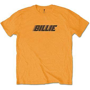 Orange Billie Eilish Racer Logo Officielle Tee T-shirt Herre Unisex