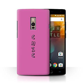 STUFF4 Case/Cover for OnePlus 2/Two/Pink/Chic/Doodle Words