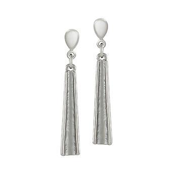 Eternal Collection Unity Silver Enamel Silver Tone Drop Clip On Earrings