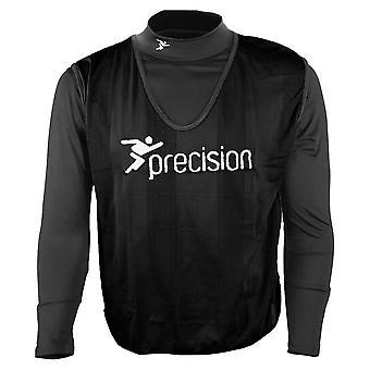 Precision Striped Mesh Football Soccer Training Bib Black