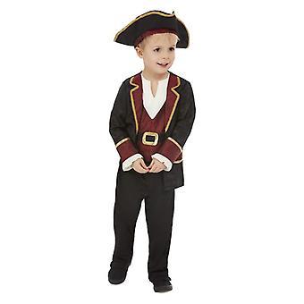 Traje de disfraces pirata swashbuckler para niños
