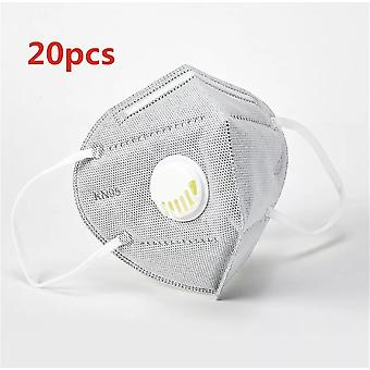 20x Reusable KN95 Mask With valved Face Mask N95 Protection Face Mask Anti-Flu