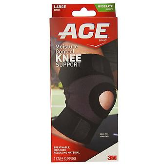 3m ace brand moisture control knee support, large, moderate, 1 ea