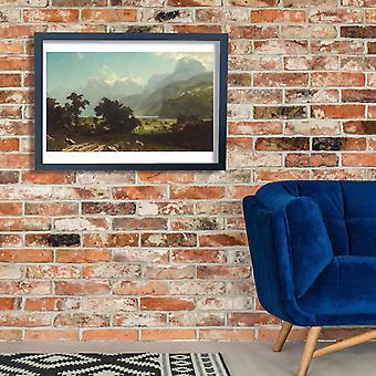Albert Bierstadt - Lake Lucerne Poster Print Giclee