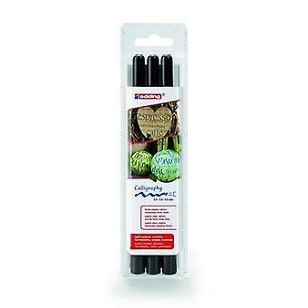 edding-1255 ass.kalligrafie pen-zwart 3PC 2/3,,5/5 mm / 4-1255-3-001