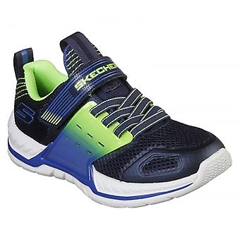 Skechers Nitrate 2.0 Boys Trainers Navy/lime