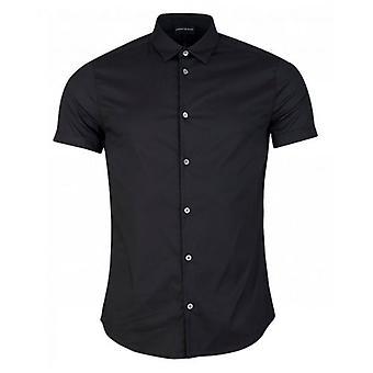 Armani Poplin Taped Detail Shirt