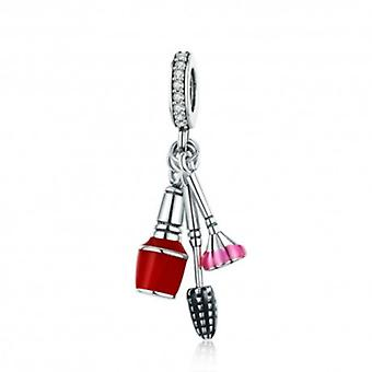 Sterling Silver Pendant Charm Makeup Tools - 5692