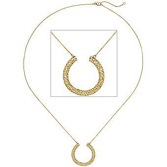 Naisten kaulakoru kaulakoru riipus punonta 750 kultaa keltainen kulta 45 cm kultaketju