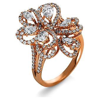Anello didiamante - 18K 750/- Oro Rosso - 1.89 ct. - 1R521R854 - Larghezza anello: 54