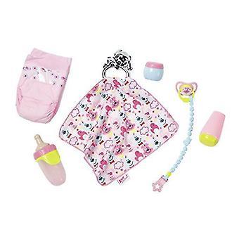 赤ちゃんは生まれたスターター セットにガラガラと楽しい動物の子供グッズのブランケットが含まれています