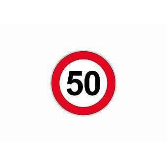 Stick sticker signaling plate door speed limit sign 50