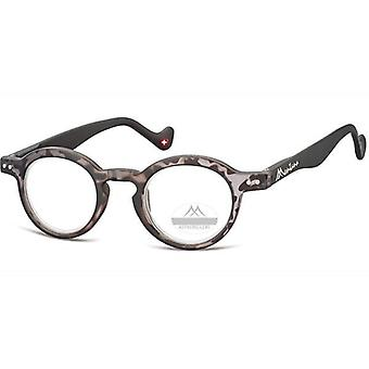 Reading glasses round turtle grey starch +2.00 (box69)