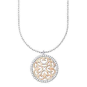 Amor dreambase-necklace with pendant in the shape of decorations Bicolor silver 925 gold-plated with white zirconi part 45 cm - 526944