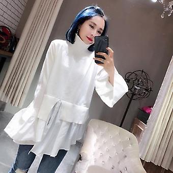 Cuello de tortuga manga manga suéteres irregulares