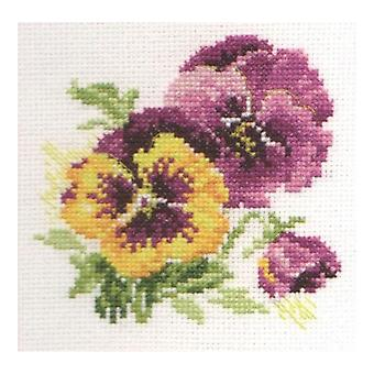 Alisa Cross Stitch Kit - Pansies