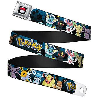 Pokemon Personages Full Colour Webbing Seatbelt Buckle Belt (24-38