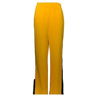 K Jordan Women's Pants Drawstring Waist Side Pockets Yellow