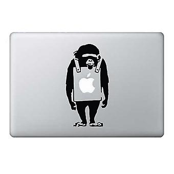 GNG Banksy Monkey Macbook 13, 15, 17 inch Air 11 13 decal stickers sticker Black art for Apple Laptop