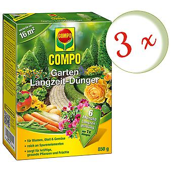 Sparset: 3 x COMPO Garden Long-term fertilizer, 850 g