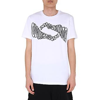Moschino 070270401001 Herren's weiße Baumwolle T-shirt