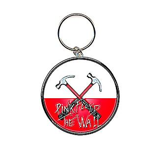 Pink Floyd Keyring Keychain The Wall Hammers Logo new Official metal