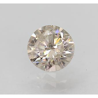Certified 0.55 Carat K Color SI2 Round Brilliant Enhanced Natural Diamond 5.19mm