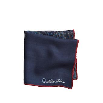 Brooks Brothers Men-apos;s Patchwork Flannel Pocket Square