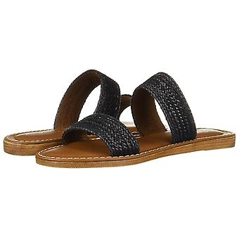 Bella Vita Women's Shoes IMO-Italy Leather Peep Toe Casual Slide Sandals