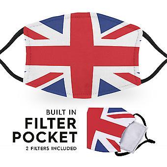 Bandera del Reino Unido - Máscaras faciales para niños