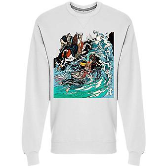 Samurai Ryttare i grovt vatten Sweatshirt Men's -Bild av Shutterstock