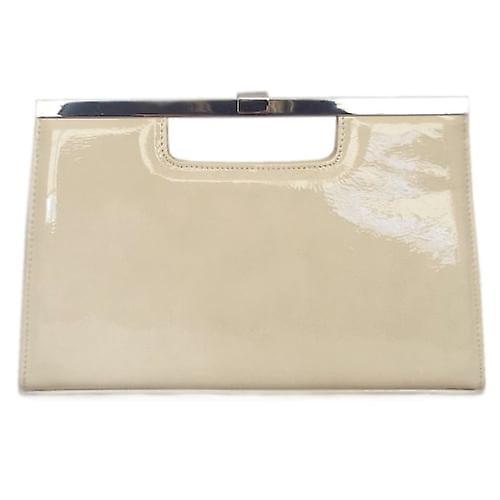 Peter Kaiser UK   Wye   Lana Capri Nude Cream Leather Evening Clutch