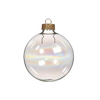 10 invulbare 60mm iriserende glazen bal Kerst ornamenten voor boom decoratie