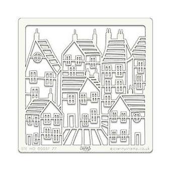 Claritystamp Art Stencil 7x7 Inch Town 7