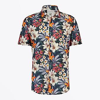 Ein Fisch namens Fred - Dschungel Blumen Kurzarm Shirt - Multi