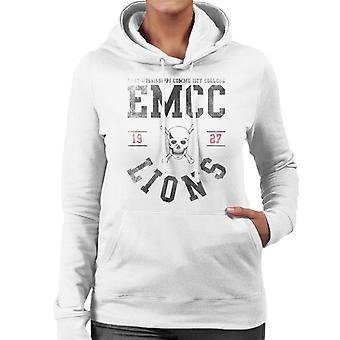 East Mississippi Community College Lions Skull Logo Women's Hooded Sweatshirt