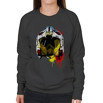 Opprinnelige Stormtrooper Rebel Pilot hjelm maling Splatter kvinners Sweatshirt