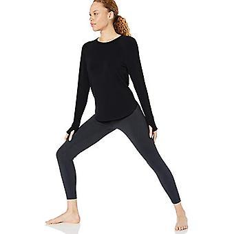 Core 10 Kvinner's Standard Yoga CoreCloud Fleece langermet sweatshirt, svart ...