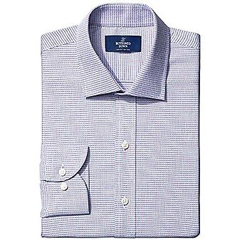 BUTTONED DOWN Men's Slim Fit Spread-Collar Small Micro Check Non-Iron Dress S...