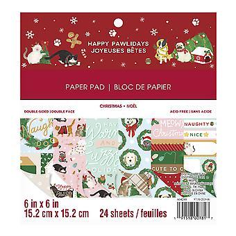 Craft Smith Happy Pawlidays 6x6 Inch Paper Pad