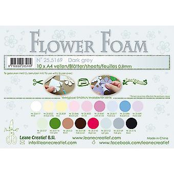 Leane Creatief Flower Foam Sheets A4 Dark Grey
